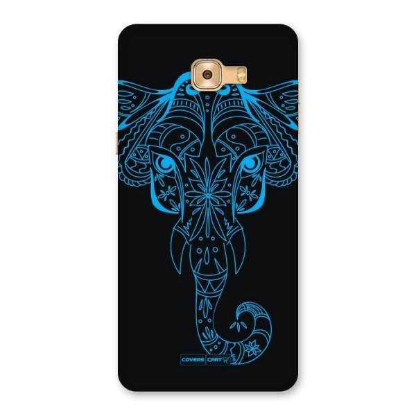 Blue Elephant Ethnic Back Case for Galaxy C9 Pro