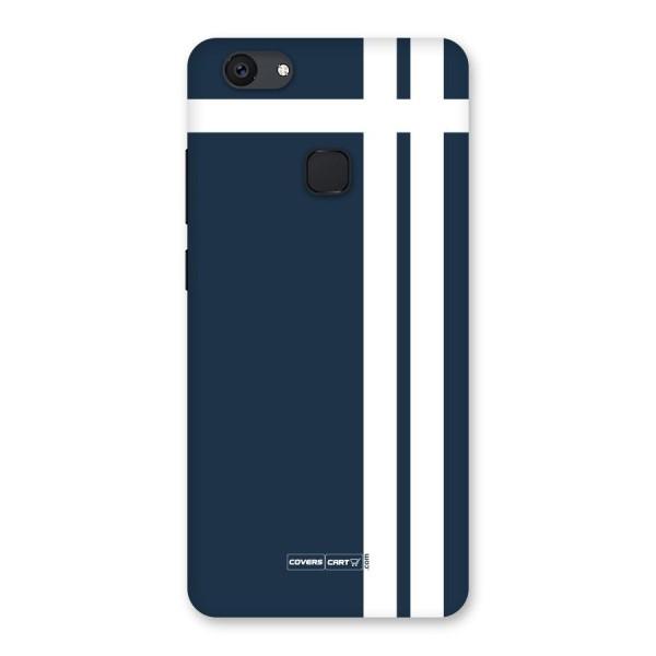 Blue and White Back Case for Vivo V7 Plus
