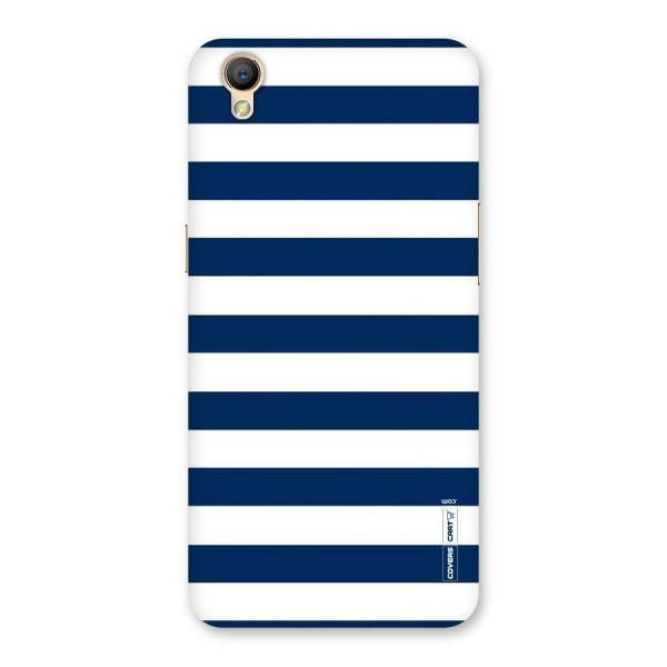 Classic Blue White Stripes Back Case for Oppo A37