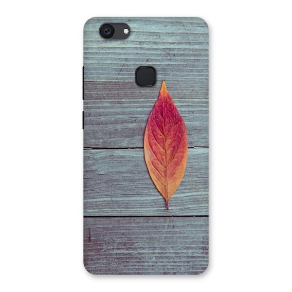 Classic Wood Leaf Back Case for Vivo V7 Plus