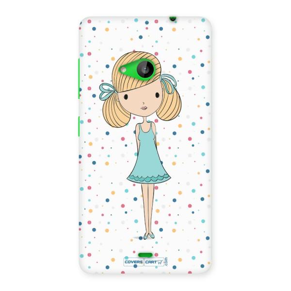 Cute Girl Back Case for Lumia 535