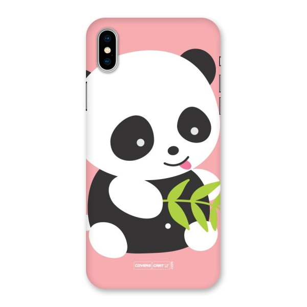 Cute Panda Pink Back Case for iPhone X