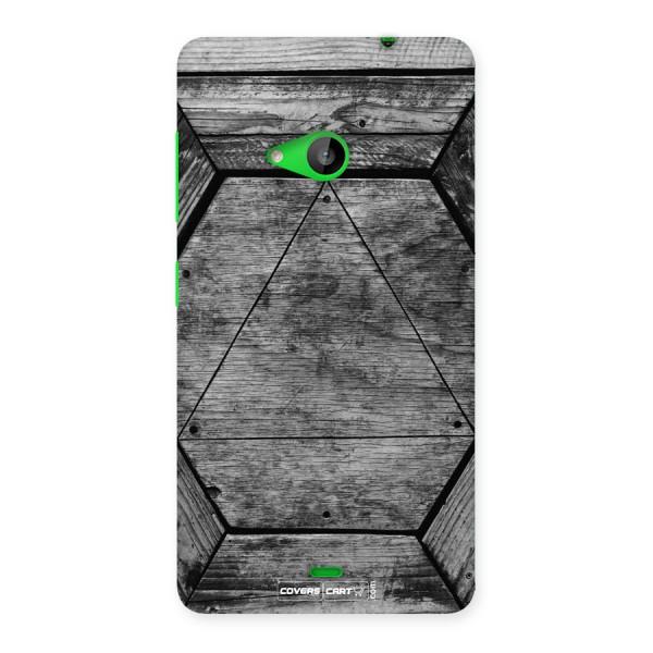 Wooden Hexagon Back Case for Lumia 535
