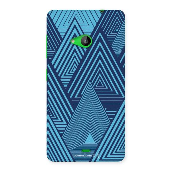 Geometric Blue Print Back Case for Lumia 535