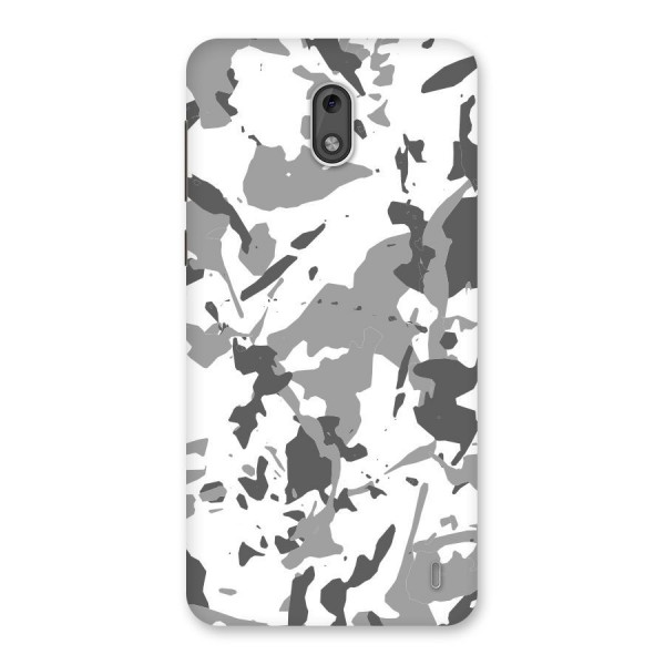 Grey Camouflage Army Back Case for Nokia 2