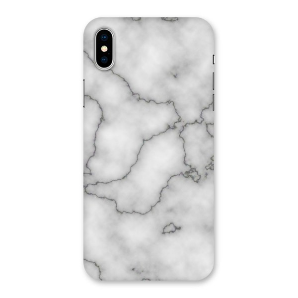 Grey Marble Back Case for iPhone X