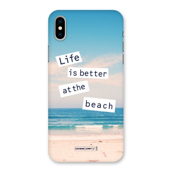 Life is better at the Beach Back Case for iPhone X