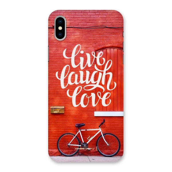 Live Laugh Love Back Case for iPhone X