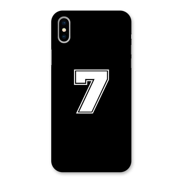 Number 7 Back Case for iPhone X