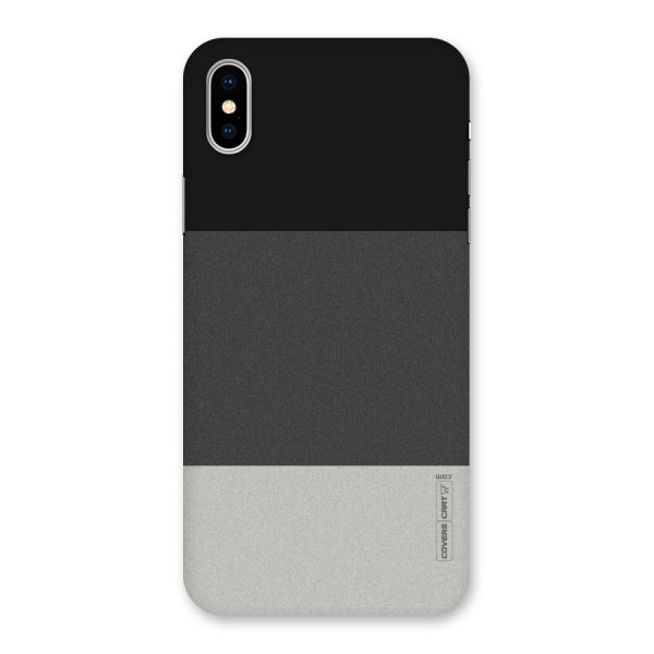 Pastel Black and Grey Back Case for iPhone X