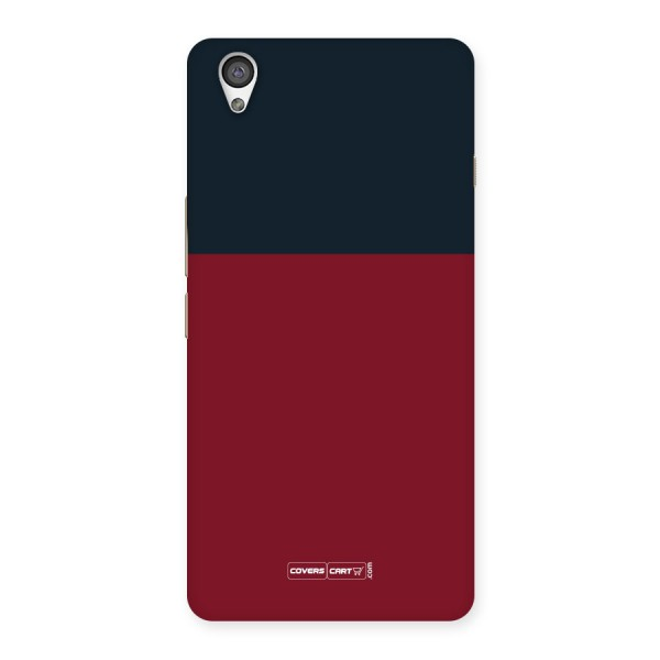 Maroon and Navy Blue Back Case for Oneplus X