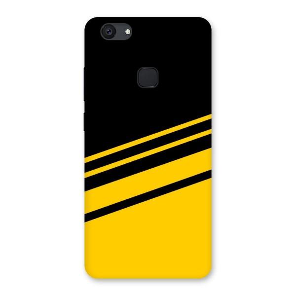 Slant Yellow Stripes Back Case for Vivo V7 Plus