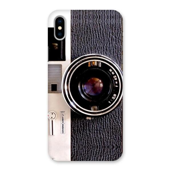 Vintage Camera Back Case for iPhone X