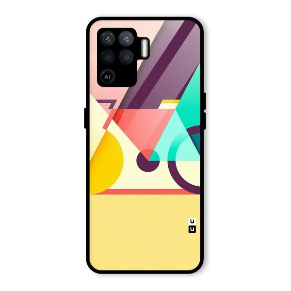Abstract Cycle Glass Back Case for Oppo F19 Pro