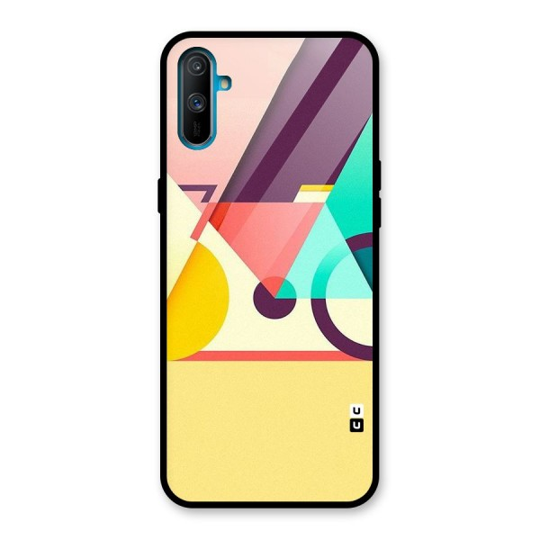 Abstract Cycle Glass Back Case for Realme C3