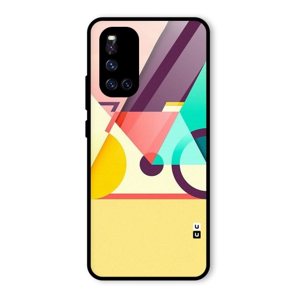 Abstract Cycle Glass Back Case for Vivo V19