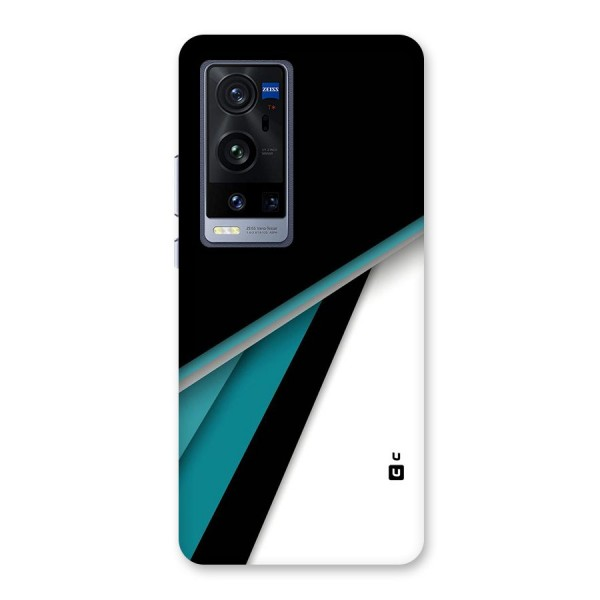 Abstract Lines Of Blue Back Case for Vivo X60 Pro Plus