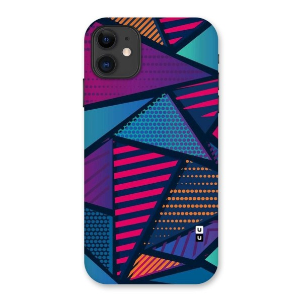 Abstract Lines Polka Back Case for iPhone 11