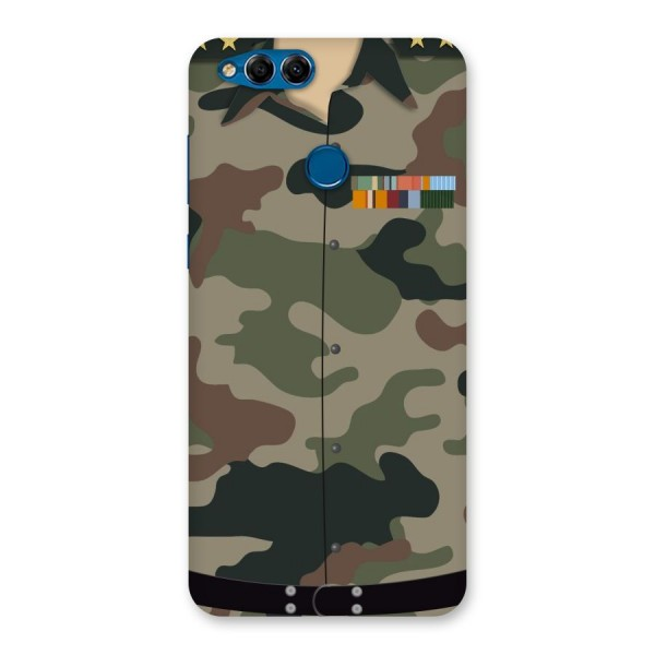 Army Uniform Back Case for Honor 7X