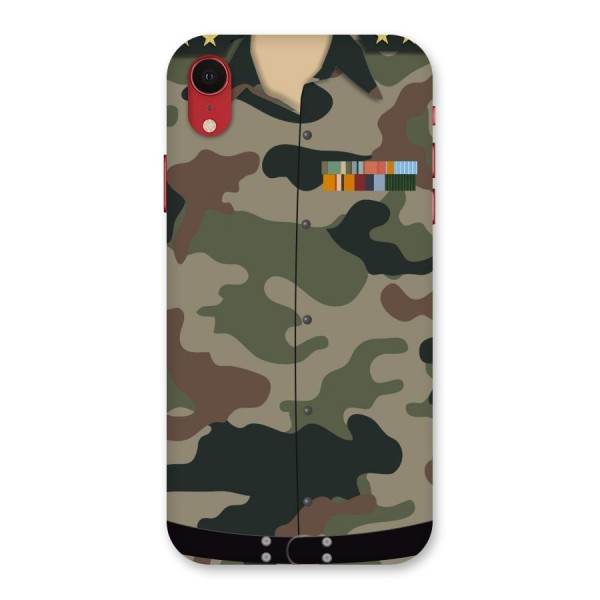 Army Uniform Back Case for iPhone XR