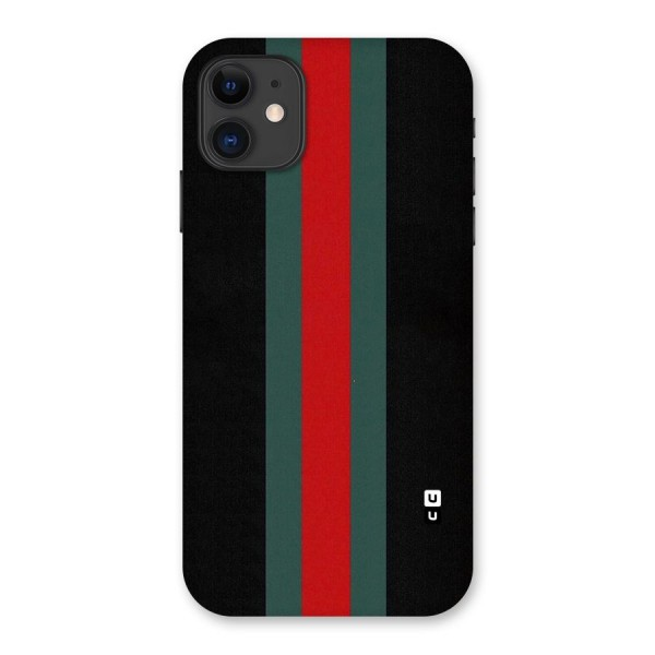 Basic Colored Stripes Back Case for iPhone 11