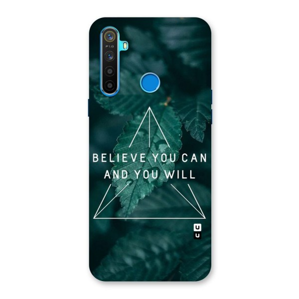 Believe You Can Motivation Back Case for Realme 5