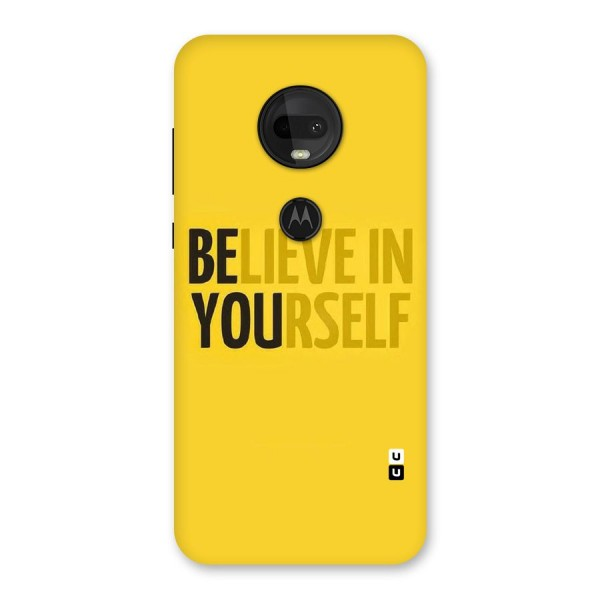 Believe Yourself Yellow Back Case for Moto G7