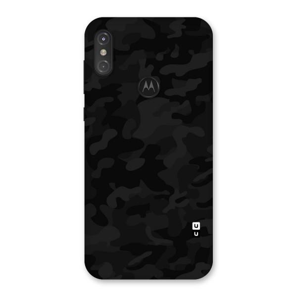 Black Camouflage Back Case for Motorola One Power