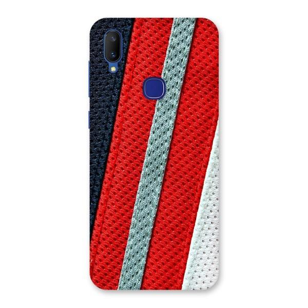 Black Red Grey Stripes Back Case for Vivo V11