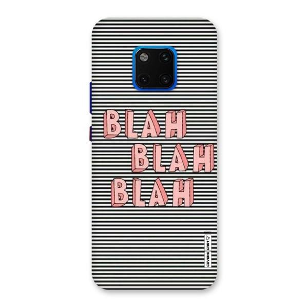 Blah Stripes Back Case for Huawei Mate 20 Pro