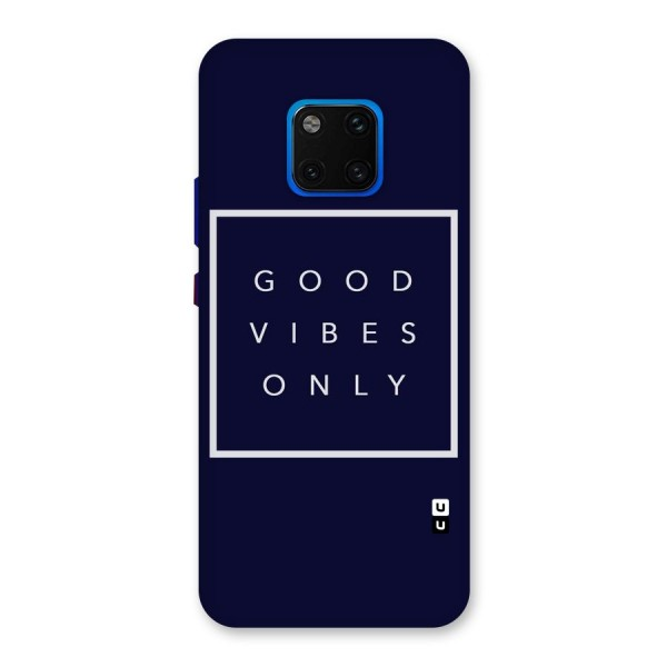 Blue White Vibes Back Case for Huawei Mate 20 Pro