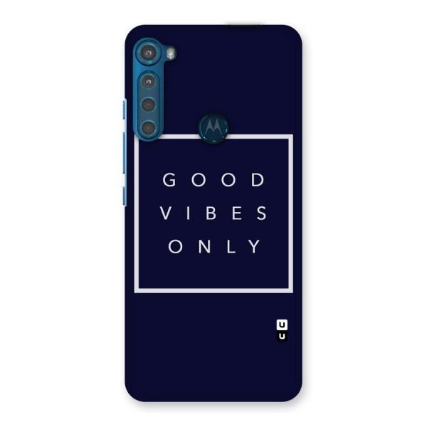 Blue White Vibes Back Case for Motorola One Fusion Plus