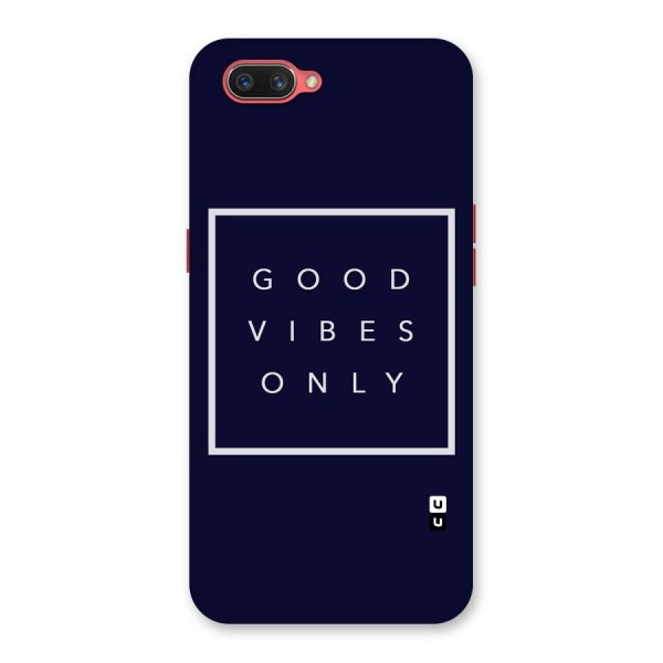 Blue White Vibes Back Case for Oppo A3s