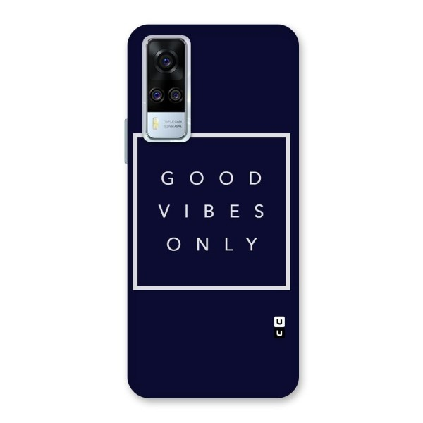 Blue White Vibes Back Case for Vivo Y51A
