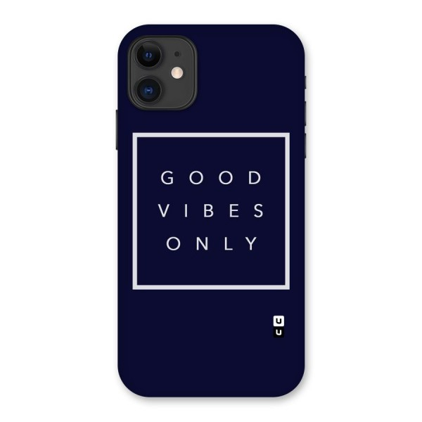 Blue White Vibes Back Case for iPhone 11