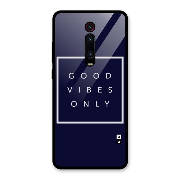 Blue White Vibes Glass Back Case for Redmi K20 Pro
