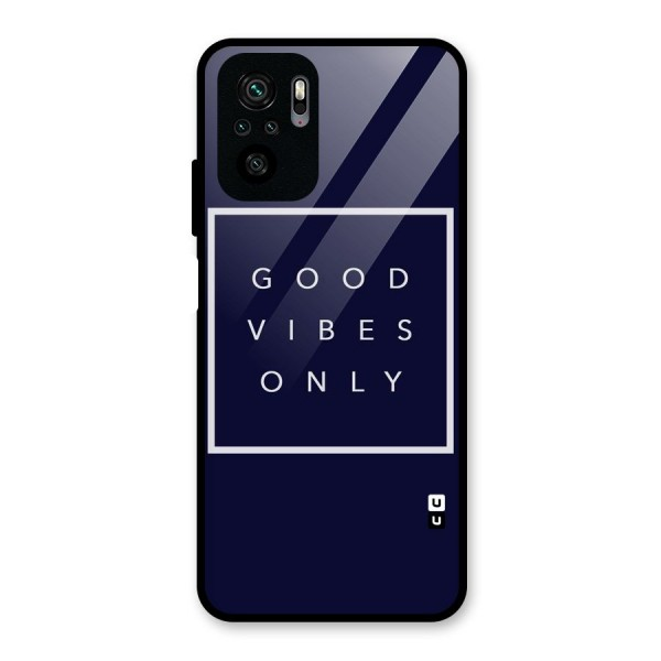 Blue White Vibes Glass Back Case for Redmi Note 10