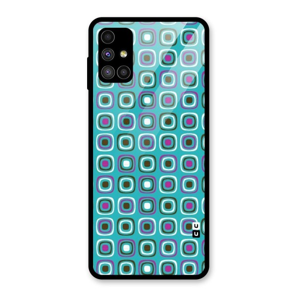 Boxes Tiny Pattern Glass Back Case for Galaxy M51