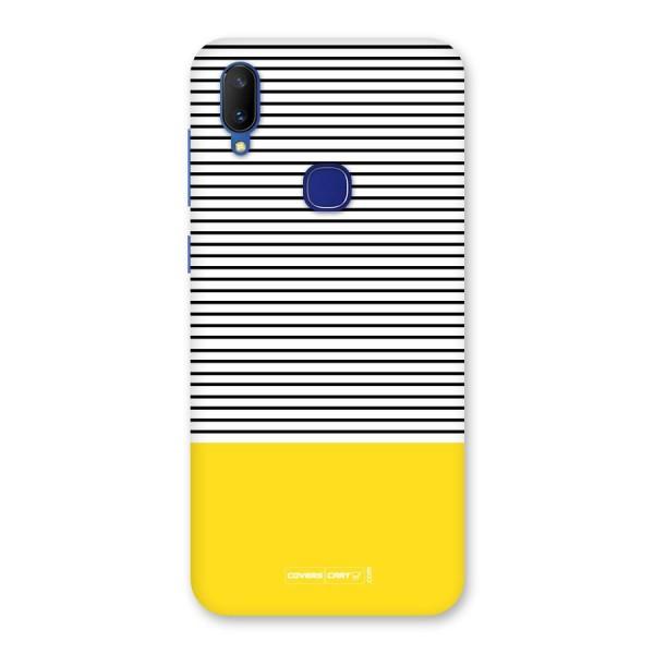 Bright Yellow Stripes Back Case for Vivo V11