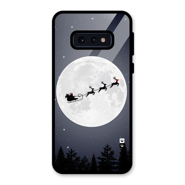 Christmas Nightsky Glass Back Case for Galaxy S10e
