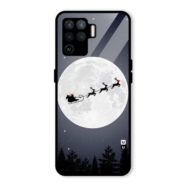 Christmas Nightsky Glass Back Case for Oppo F19 Pro