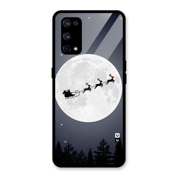 Christmas Nightsky Glass Back Case for Realme X7 Pro