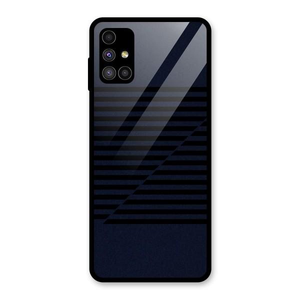 Classic Stripes Cut Glass Back Case for Galaxy M51