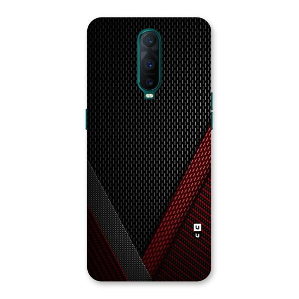 Classy Black Red Design Back Case for Oppo R17 Pro