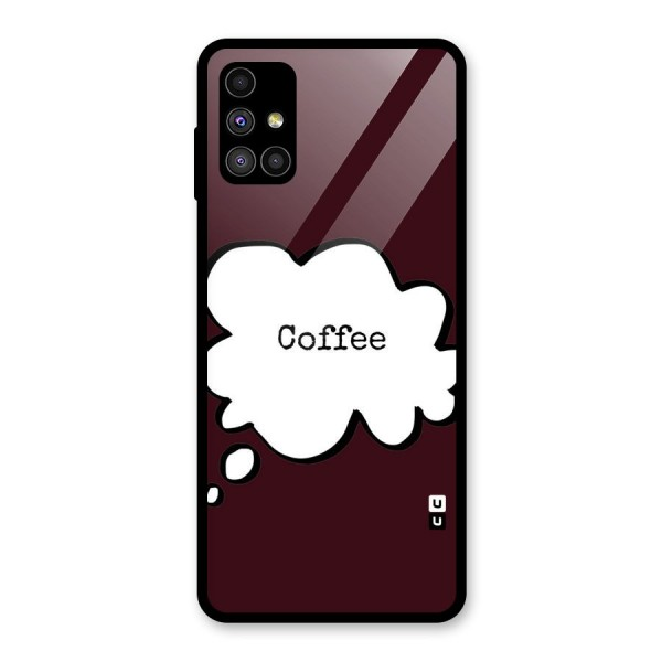 Coffee Bubble Glass Back Case for Galaxy M51