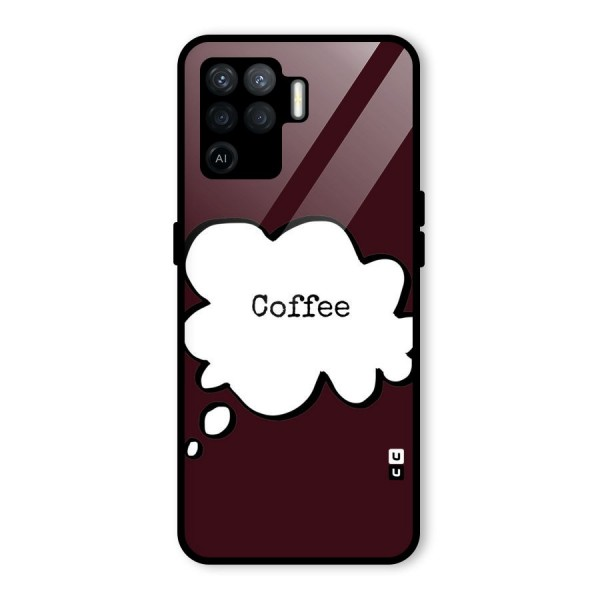 Coffee Bubble Glass Back Case for Oppo F19 Pro