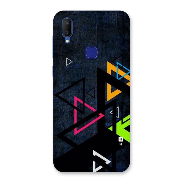 Coloured Triangles Back Case for Vivo V11