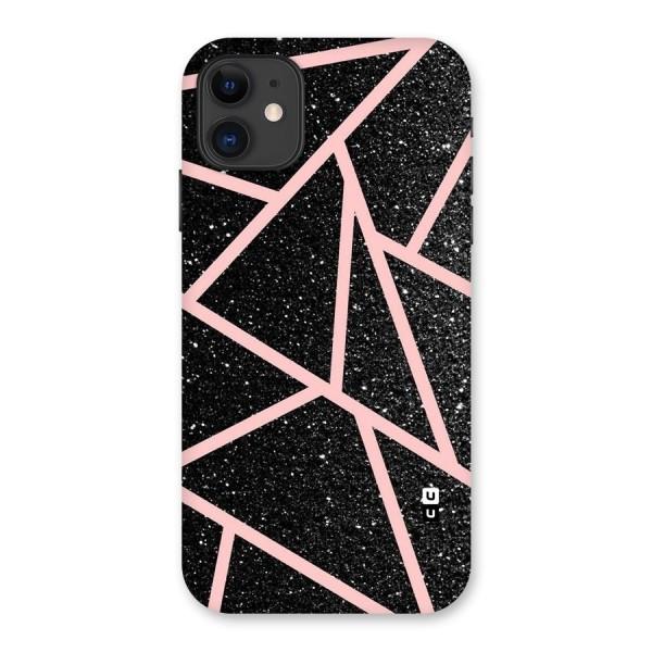 Concrete Black Pink Stripes Back Case for iPhone 11