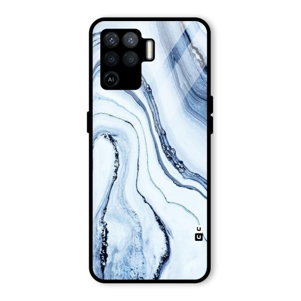 Cool Marble Art Glass Back Case for Oppo F19 Pro