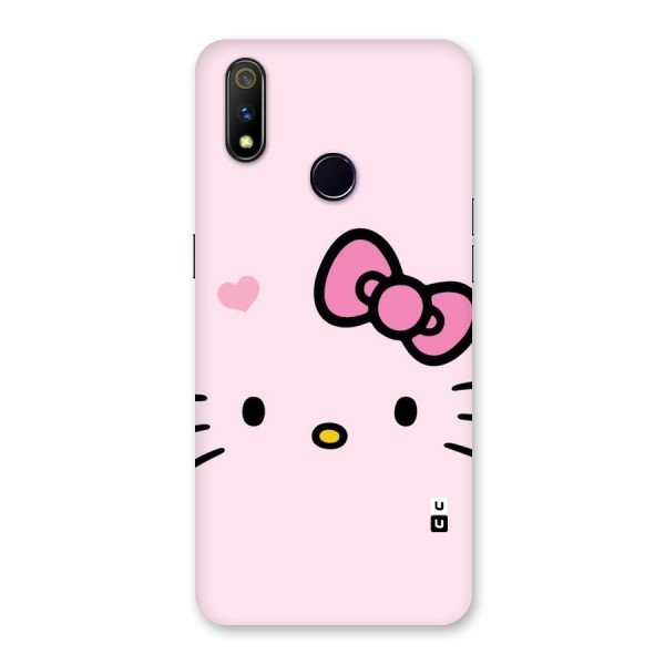Cute Bow Face Back Case for Realme 3 Pro